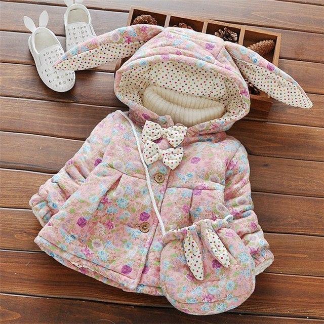 769fe3ffa Warm Winter Baby Infants Girls Children Kids Big Ear Hooded Hoody ...