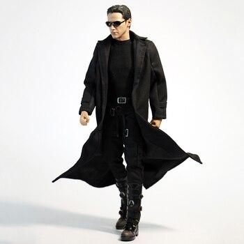 1/6 Scale Fashion Man Black Coat Male Black Jacket Boy Windbreaker For 12' Action Figure Body Dolls Toys