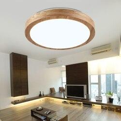 Oświetlenie sufitowe led Nordic wood 6cm nowoczesna lampa zdalnie sterowana minimalistyczny salon kreatywne gumowe oświetlenie do sypialni