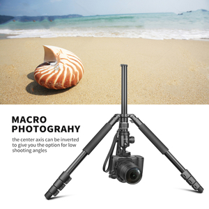 Image 5 - تبادل لاطلاق النار المهنية المحمولة السفر كاميرا ترايبود سبائك الألومنيوم 4 أقسام حامل ثلاثي القوائم لكانون نيكون SLR DSLR كاميرا رقمية