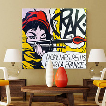 Lichtenstein Pop Art Cartoon Oil painting on canvas Hand-painted Wall Picture for living Room Andy Warhol  home decor