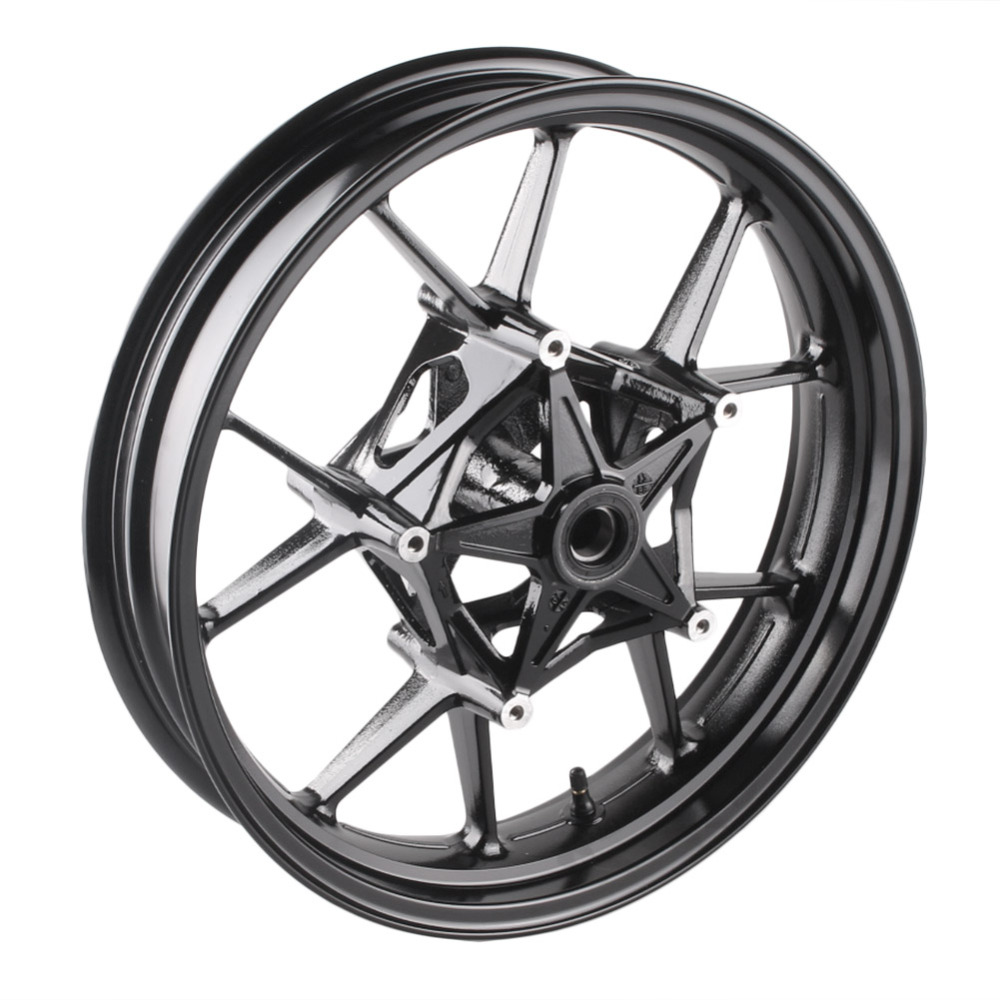 Motorcycle Alloy Front Wheel Rims For BMW S1000RR 2009 2010 2011 2012 2013 2014 2015 & S1000R 2014 2015 Black