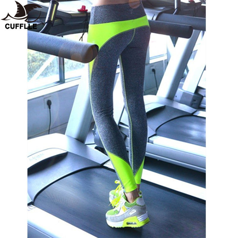 CUFFLLE Women Sport Running Capris For Running Gym Fitness Sports Pants Nine Leggings For Woman Elastic Trousers Ropa Deportiva
