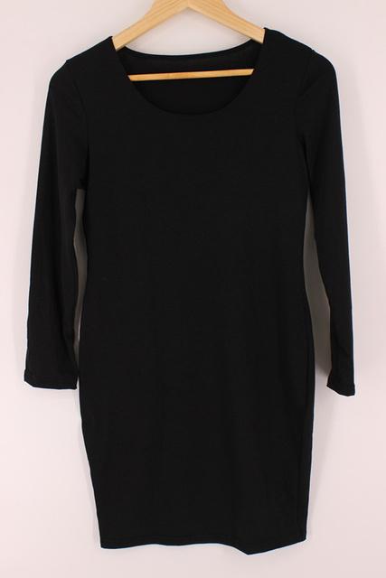Club Bandage Dress 2017 Fashion Long Sleeve Black Slim