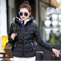 2017 autumn and winter down women short paragraph small cotton-padded coats Slim Hooded cotton  parkas warm clothing 7862