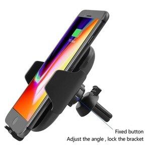 Image 3 - 696 c10 qi carregamento rápido sem fio carregador de carro 10w indução infravermelha automática ventilação ar titular do telefone carro para iphone para samsung