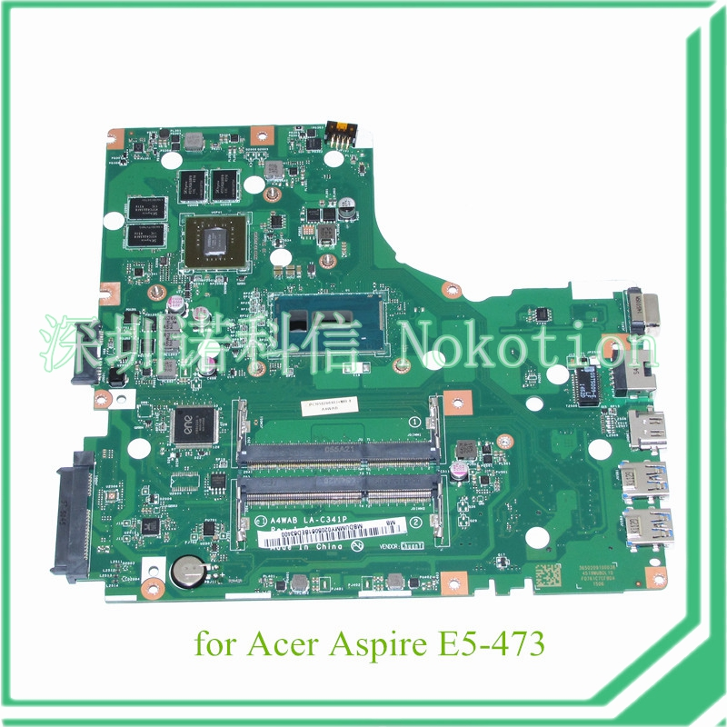 NOKOTION NBDUMMY0205 A4WAB LA-C341P for acer aspire E5-473 laptop motherboard I3-5005U CPU NVIDIA GeForce 920M