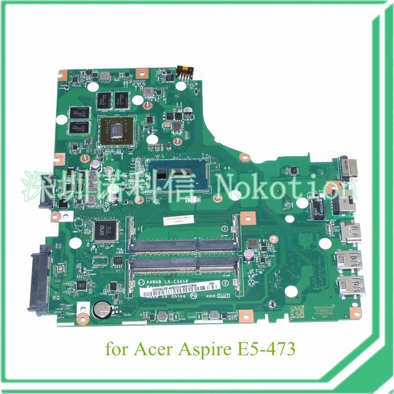 NOKOTION NBDUMMY0205 A4WAB LA-C341P for acer aspire E5-473 laptop motherboard I3-5005U CPU NVIDIA GeForce 920M