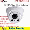 """Оригинал Dahua 4MP WDR ИК Глазного Яблока Сетевая Камера 1/3 """"H.265 & H.264 2.7 мм ~ 12 мм моторизованный объектив PoE, ip-камера IPC-HDW5431R-Z"""