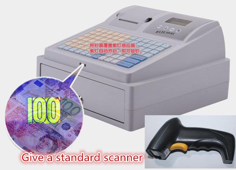 Электронный кассовый аппарат POS кассовый аппарат многофункциональный Для супермаркетов молоко чай с деньгами проверка + лазерного сканиро