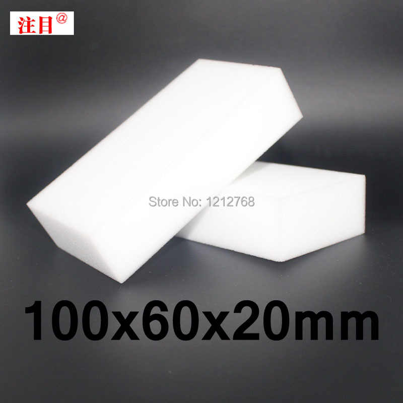 100 Pcs Gratis Shiipping Magic Melamine Sponge 100*60*20 Mm Schoonmaak Gum Multifunctionele Sponge