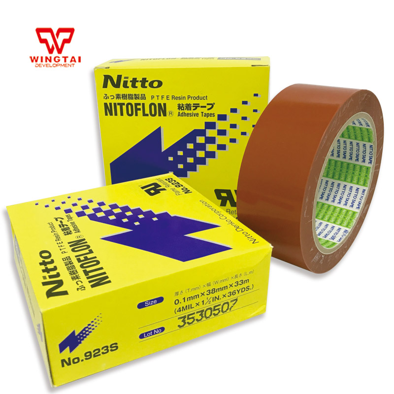 5 pcs /lot T0.10mm*W38mm*L33m Original Japan NITTO DENKO 923S Nitoflon Heat Sealing PTFE Adhesive Tape