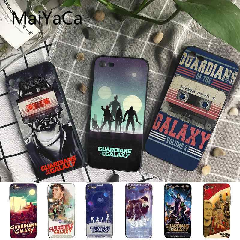 Maiyaca Guardians of the Galaxy Marvel Black Soft Shell Phone Cover for iPhone X XS MAX  6 6s 7 7plus 8 8Plus 5 5S SE XR