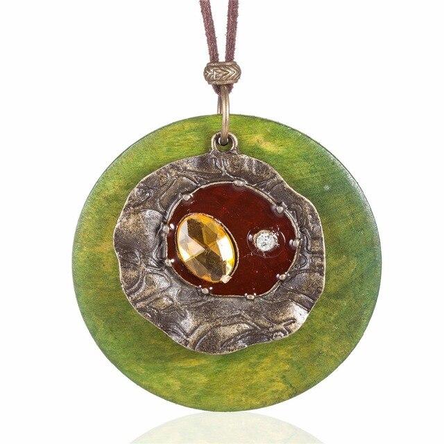 Maxi collana collier monili delle donne collares kolye collane & pendenti di Collana di Corda di Cotone del Commercio All'ingrosso Dei Monili Delle Donne