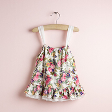 summer fashion casual high quanlity floral print baby girls