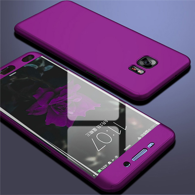 luxury 360 full cover phone case for samsung galaxy s6 s7 edge case for samsung note 5 4 3 8 9 Protective Shell Case Cover