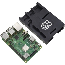Raspberry Pi 3 Model B+ Case Black Cnc Aluminum Case Ultra-Thin Metal Shell With Quad Core 1.4Ghz 64 Bit Cpu Wifi & Bluetooth raspberry pi 3 model b 1gb ram quad core 1 2g 64 bit cpu bluetooth wifi on board