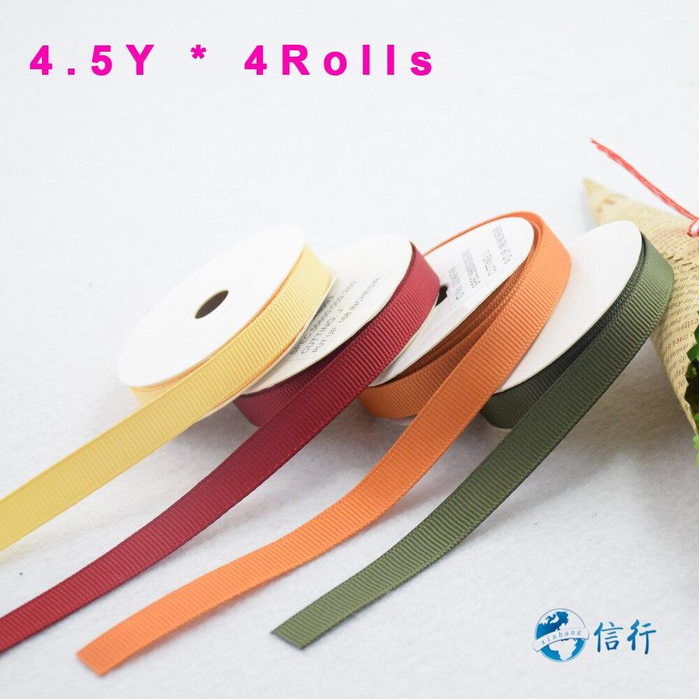 ᓂ4.5 yardas/rodillo, 4 rollos en 1, 4 colores 9mm cintas de tejido ...