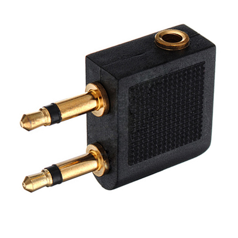 Image 4 - 2pcs/lots 3.5mm Jack Audio Adapter Airline Airplane Travel Traveling Earphone Headphone Headset Jack Adapter hot Wholesale-in Earphone Accessories from Consumer Electronics