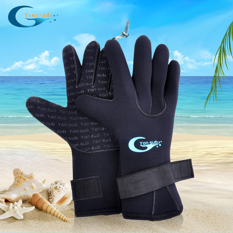 yonsub diving gloves stab slip resistant anti-scratch Velcro wrist snorkeling equipment supplies