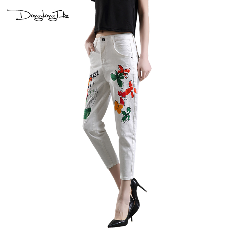 Dongdongta Cross-pants Kobiety Dziewczęta Luźne spodnie do kostki - Ubrania Damskie - Zdjęcie 3
