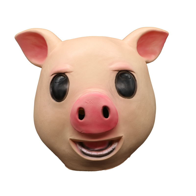 Hot lovely pig coplay Masks Kids Halloween Full Face children cosplay pig Latex mask helmet halloween costume for child party