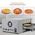 Высококачественная Коммерческая конвекционная печь для пиццы из нержавеющей стали  12-дюймовая гусеничная электрическая печь для пиццы  пе...