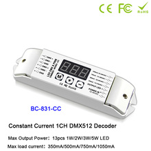 BC-831/BC-831-CC DMX512 Single color Controller PWM CC/CV LED Decoder 1 channels output Dimmer drive For Lamp light