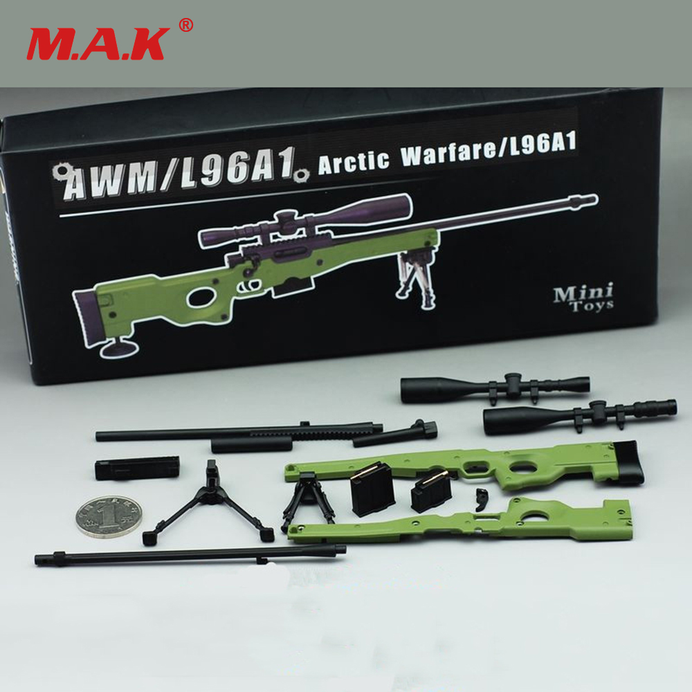 1/6 Scale AWM L96A1 Full Metal Sniper Rifle Model Green/Sand Color Collectible Gun Model zinc alloy fort weapons fortnit metal model toy nite keychain gun sniper rifle awm nit figure fornite