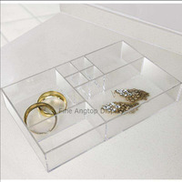 Luxury Acrylic Decorative Tray Jewelry Tray With Compartment