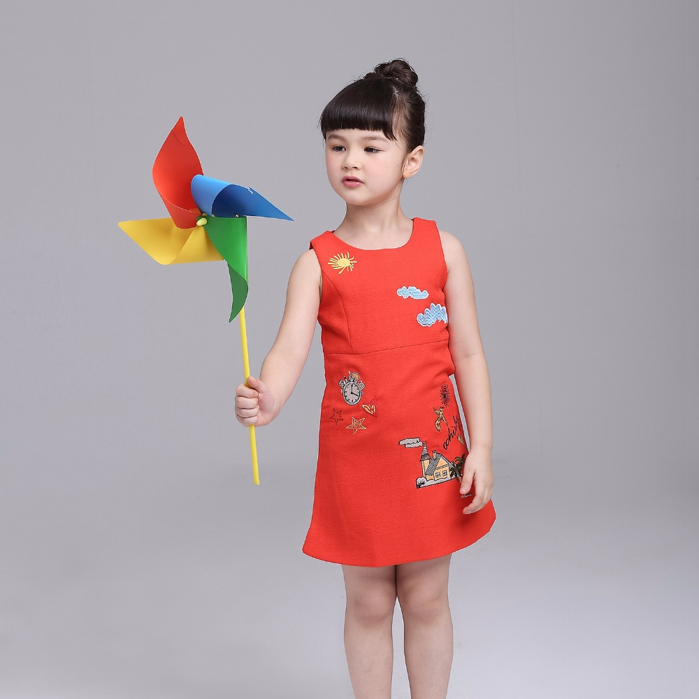 Christmas dresses for kids - Aliexpress Com Buy 2017 Girl Christmas Dresses New Girls Red Pastoral Style Embroidery Sleeveless Party Dress Kids Holiday Clothes From Reliable Kids