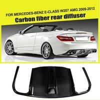 Carbon Fiber / FRP Black Rear Lip Diffuser Bumper Exhaust Guard for Benz E Class C207 E63 AMG Coupe Contertible 2009 2012