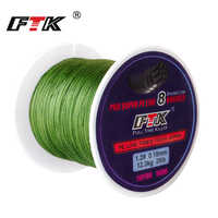 FTK 100M 8 Strands PE Braided Wire Fishing Line 110Yards Multifilament 0.16mm-0.40mm 20LB-90LB Fiber Fishing Line All Fishing