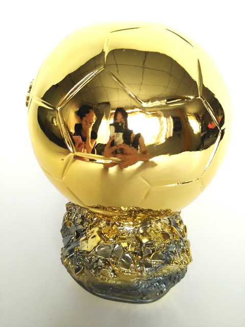 Resin Golden France Football World Player of the Year Trophy