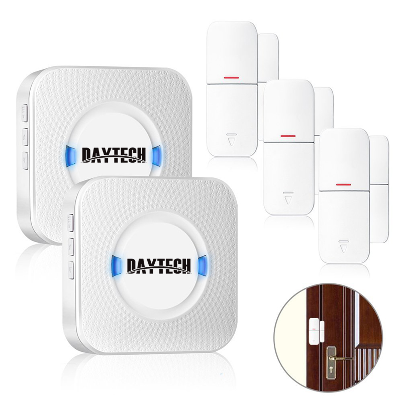 DAYTECH Wireless Door Windows Sensor Detector Alarm Alert Sensor Wireless Home Security Alarm System Kits Retail Store/Office forecum 433mhz wireless magnetic door window sensor alarm detector for rolling door and roller shutter home burglar alarm system