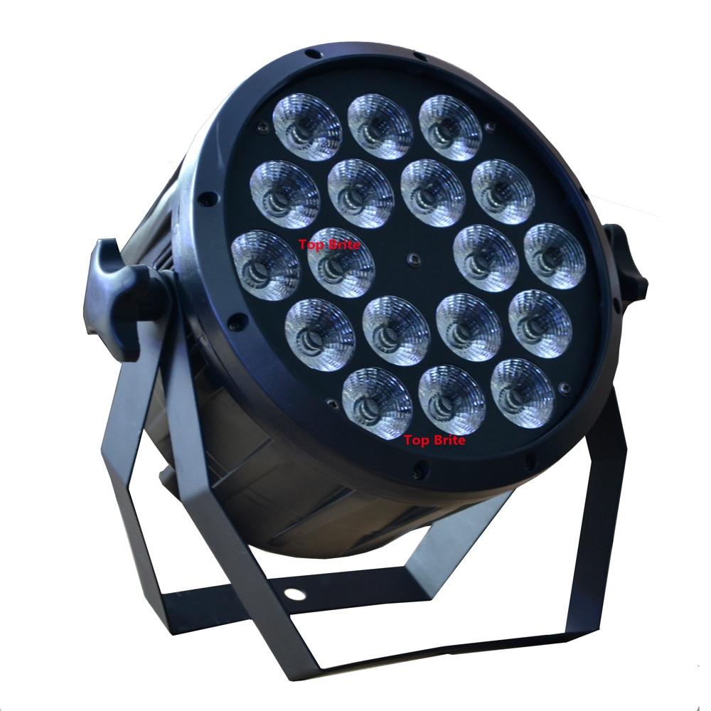 4xLot Buena calidad Led Par Light Quad 18x12W 4in1 RGBW Beam Wash Dmx - Iluminación comercial - foto 2