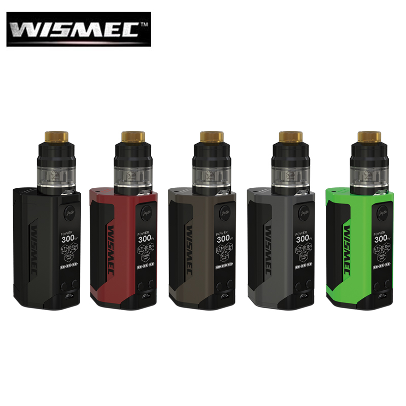 Original Wismec Reuleaux RX GEN3 2ML GNOME Atomizer RXGEN3 BOX MOD 300W Vape 1.3inch Screen Vaporizer Fit WM Coil original wismec elabo sw 2ml atomizer