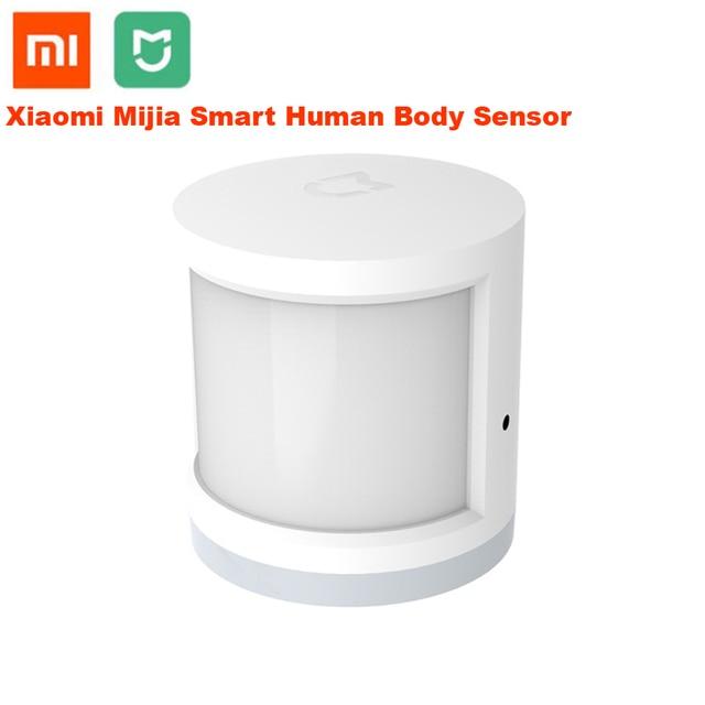 مستشعر حركة ذكي لجسم الإنسان من شاومي مي جيا الأصلي موديل 100% ، مستشعر حركة ذكي للجسم ، تطبيق Mihome للاتصال زيجبي عبر نظام التشغيل أندرويد وios