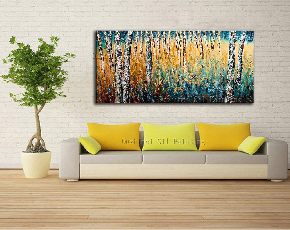 Handmade Modern Oil Painting Hang Paintings Wall Abstract Year of ...
