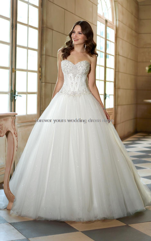 Drop Waist Ball Gown Princess Wedding Dresses