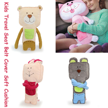 Strong Seat Belt Cover Kids Safety Travel Bear Rabit Mourse  Comfort Neck Rest  Soft Plush Toys Doll