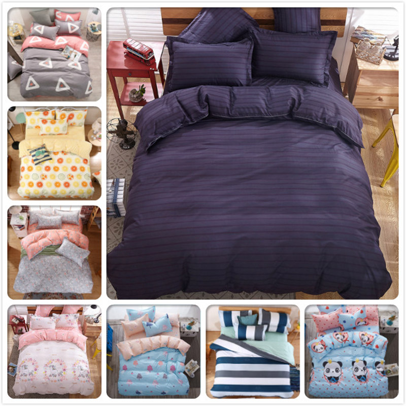 4pcs Sets Full King Queen Twin Single Bedding Size Duvet Cover Bed linens Flat Bed Sheet Pillowcase 1.5m 1.8m 2m 2.2m Bedclothes4pcs Sets Full King Queen Twin Single Bedding Size Duvet Cover Bed linens Flat Bed Sheet Pillowcase 1.5m 1.8m 2m 2.2m Bedclothes