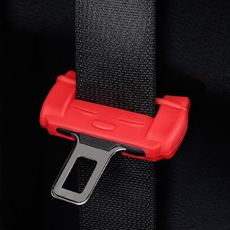 Car Safety Belt Buckle Silicon For Toyota Corolla Avensis Yaris Rav4 Auris Hilux Prius Camry Celica C-HR Ipsum Verso Wish Prado