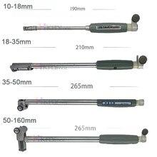 Jauge de diamètre intérieur, tige de mesure + sonde (sans indicateur), accessoires, 10-18mm 18-35mm 35-50mm 50-160mm