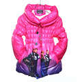 3-10T 2016 Girls Kids Snow Queen Princess Children Elsa Winter Down Coat Jacket Kids Clothes Snowsuit Enfant Parka Doudoune