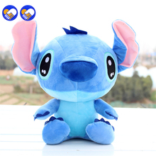 A toy dream Discount 20cm Kawaii Stitch Plush Toys Anime Lilo and Soft Stuffed Animal Dolls Stich Children Birthd