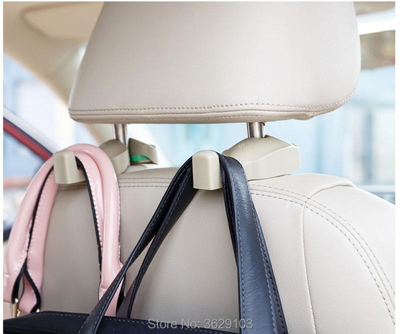 2PCS creative Auto Portable Seat hook Hanger accessories car-styling for Nissan qashqai tiida almera juke primera x-trail note