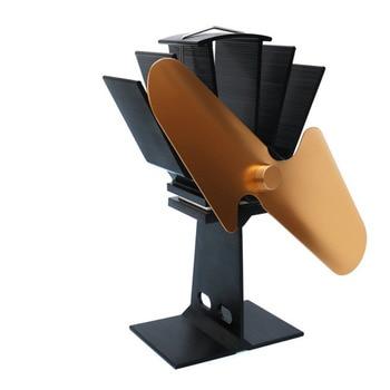 2 Лопасти вентилятор для печи, работающий от тепловой энергии домашний бесшумный вентилятор для печи, работающий от тепловой энергии Ультра...