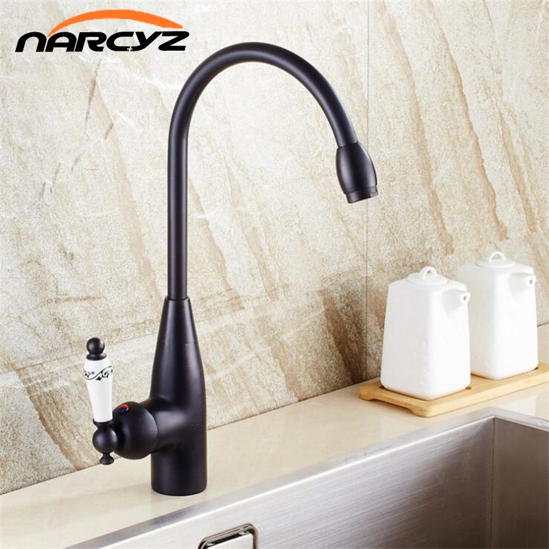 Kitchen Faucet Antique/Black Bronze Kitchen Mixer Tap With Ceramic Crane Hot And Cold Kitchen Water Mixer Brass Sink Crane XT-56 цены