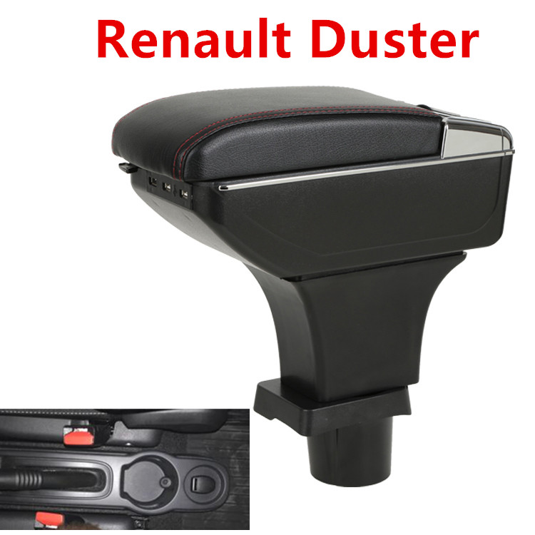 Für Renault Duster armlehne box zentralen Speicher inhalt box mit tasse halter aschenbecher usb-schnittstelle Generisches modell